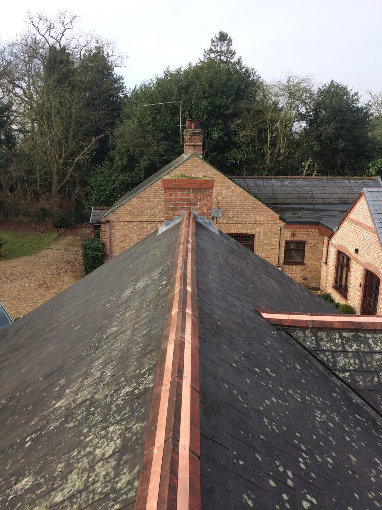 Runcton Holme Copper Strip Fitting Coppertop Roofing