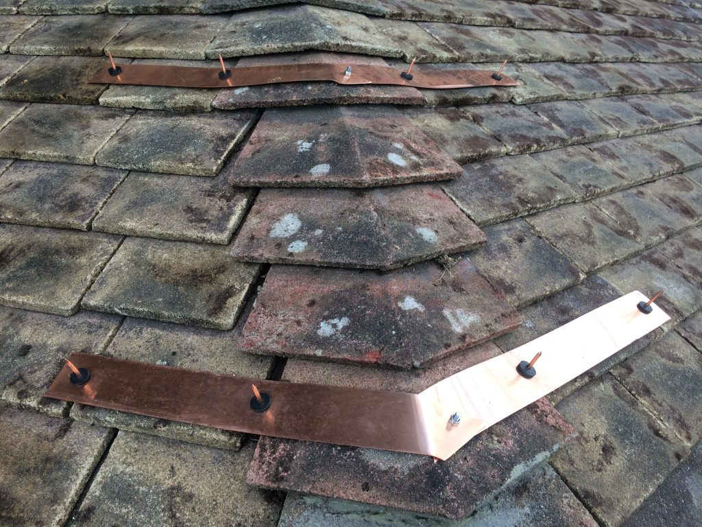 Newmarket Copper Roof Strip Fitting At Catholic Church